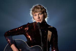 taylor swift performing betty at the academy of country music awards 2020
