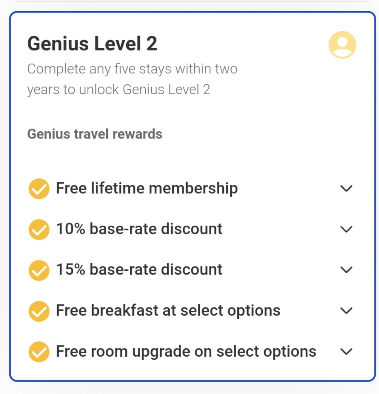 List of Booking.com membership rewards