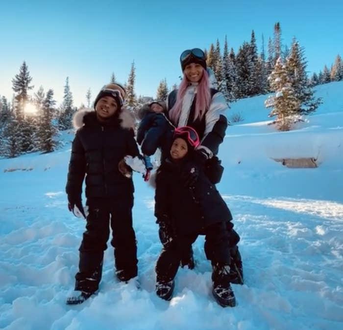 Ciara and her three children