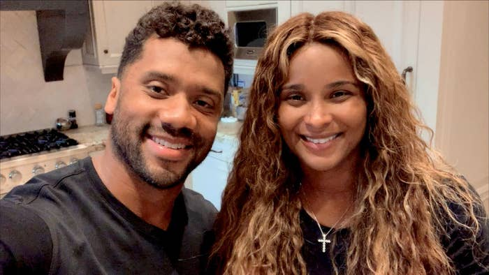 Russell Wilson and Ciara take a selfie