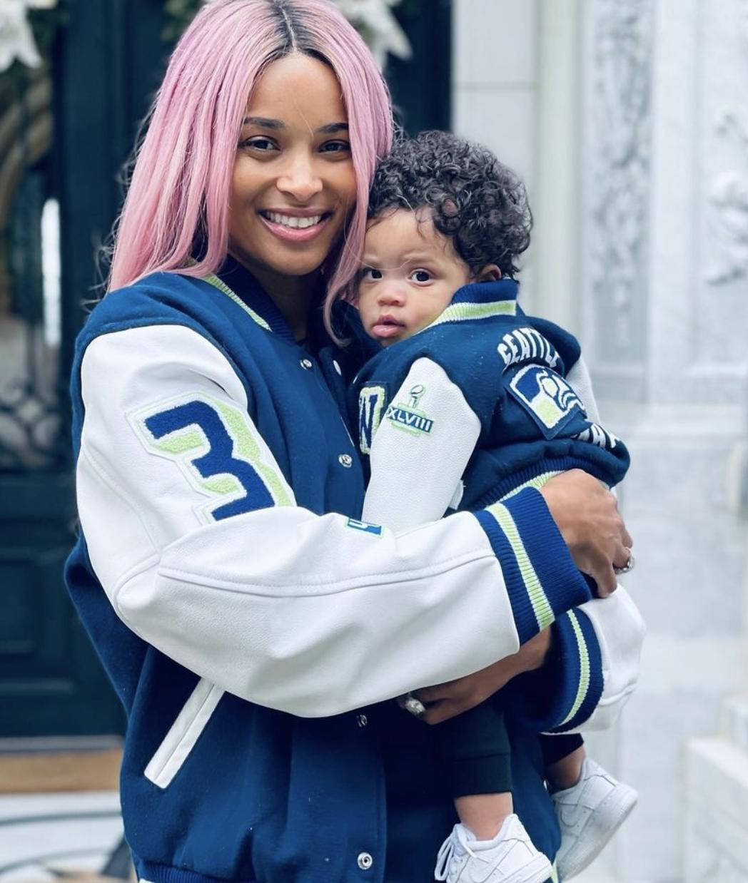 Ciara holds baby Win