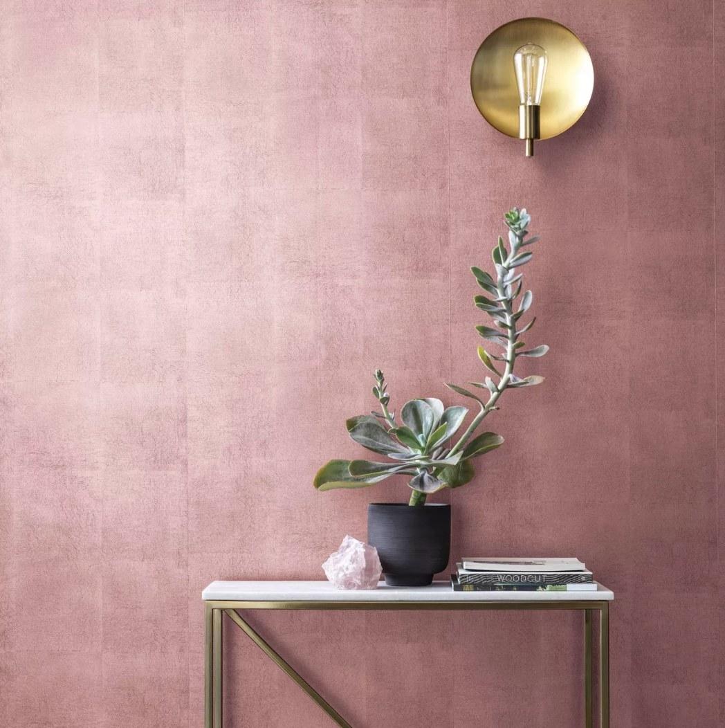 Pink metallic wallpaper