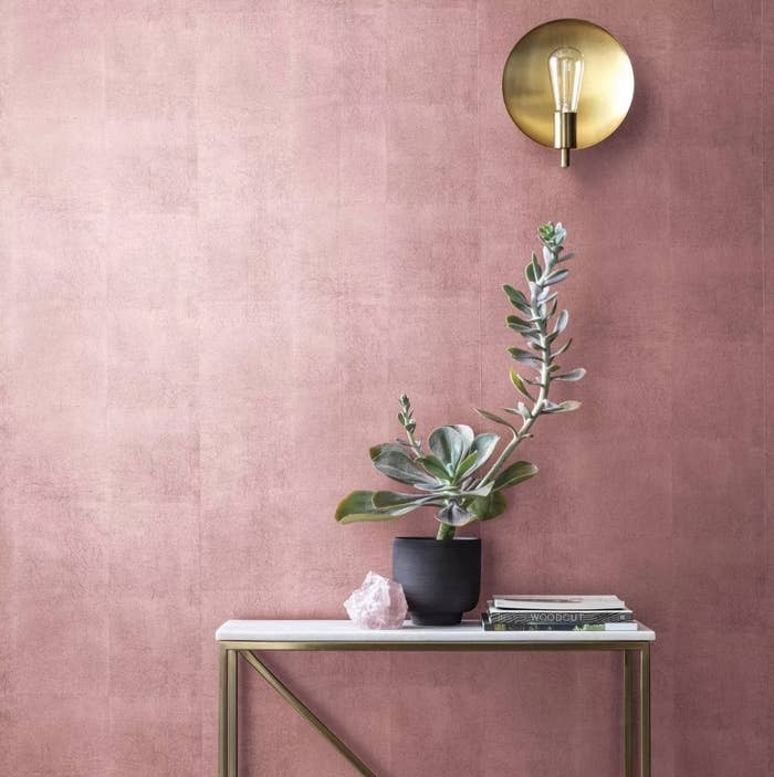 Pink metallic wallpaper