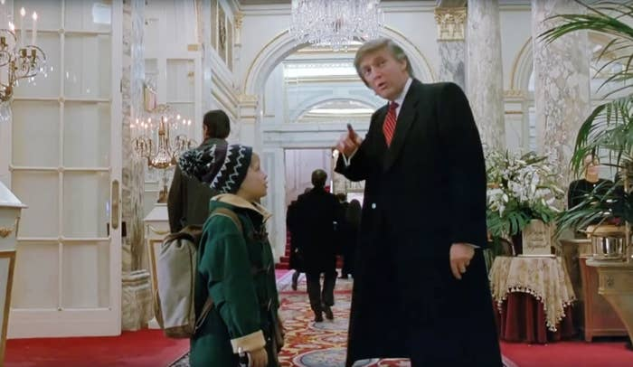 Donald Trump directs Kevin McAllister at the Plaza in Home Alone 2