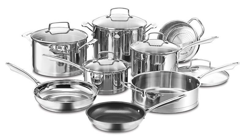 Cuisinart Professional 13 Piece Stainless Steel Cookware Set