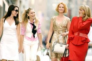 SEX AND THE CITY: THE MOVIE, Kristin Davis, Sarah Jessica Parker, Cynthia Nixon, Kim Cattrall, 2008