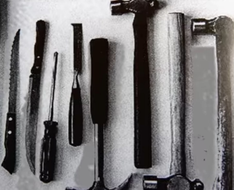 Murder weapons used by the Ripper.