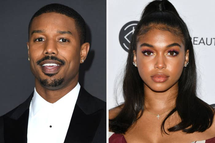 Michael B Jordan and Lori Harvey at red carpet events