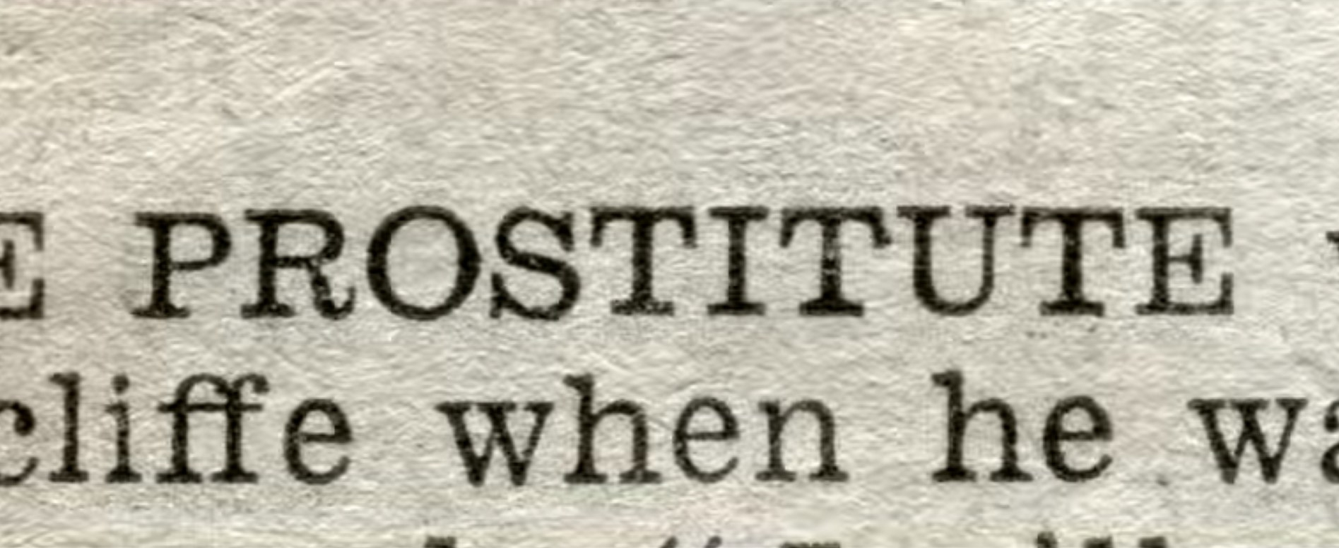 Newspaper citing attacks of prostitutes.