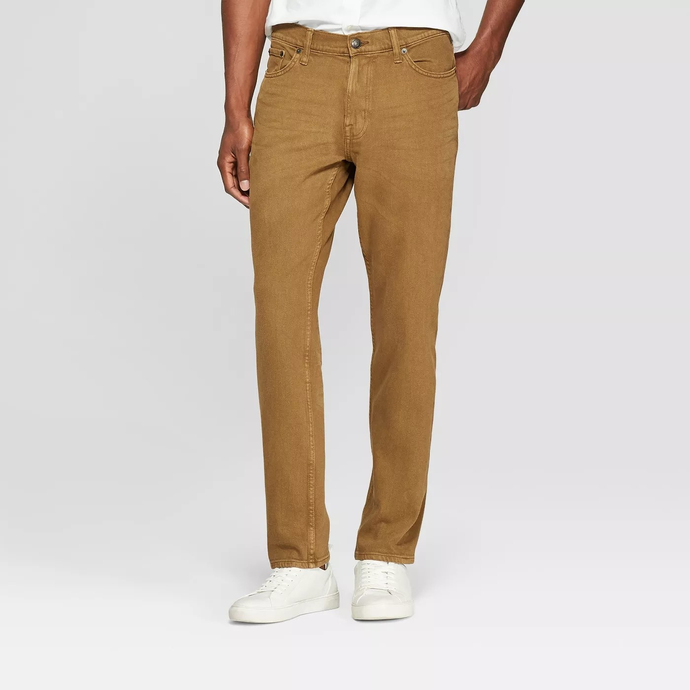 The jeans in khaki