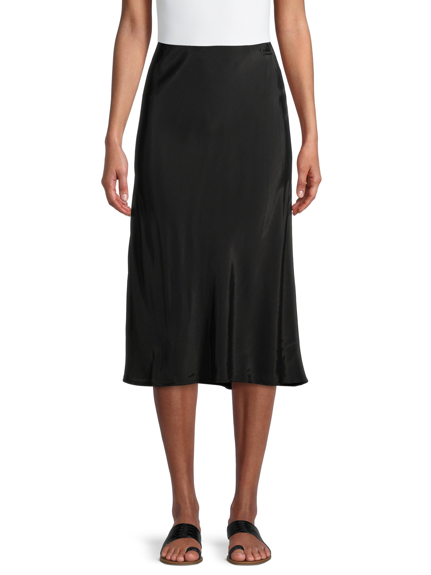 Model wearing black skirt