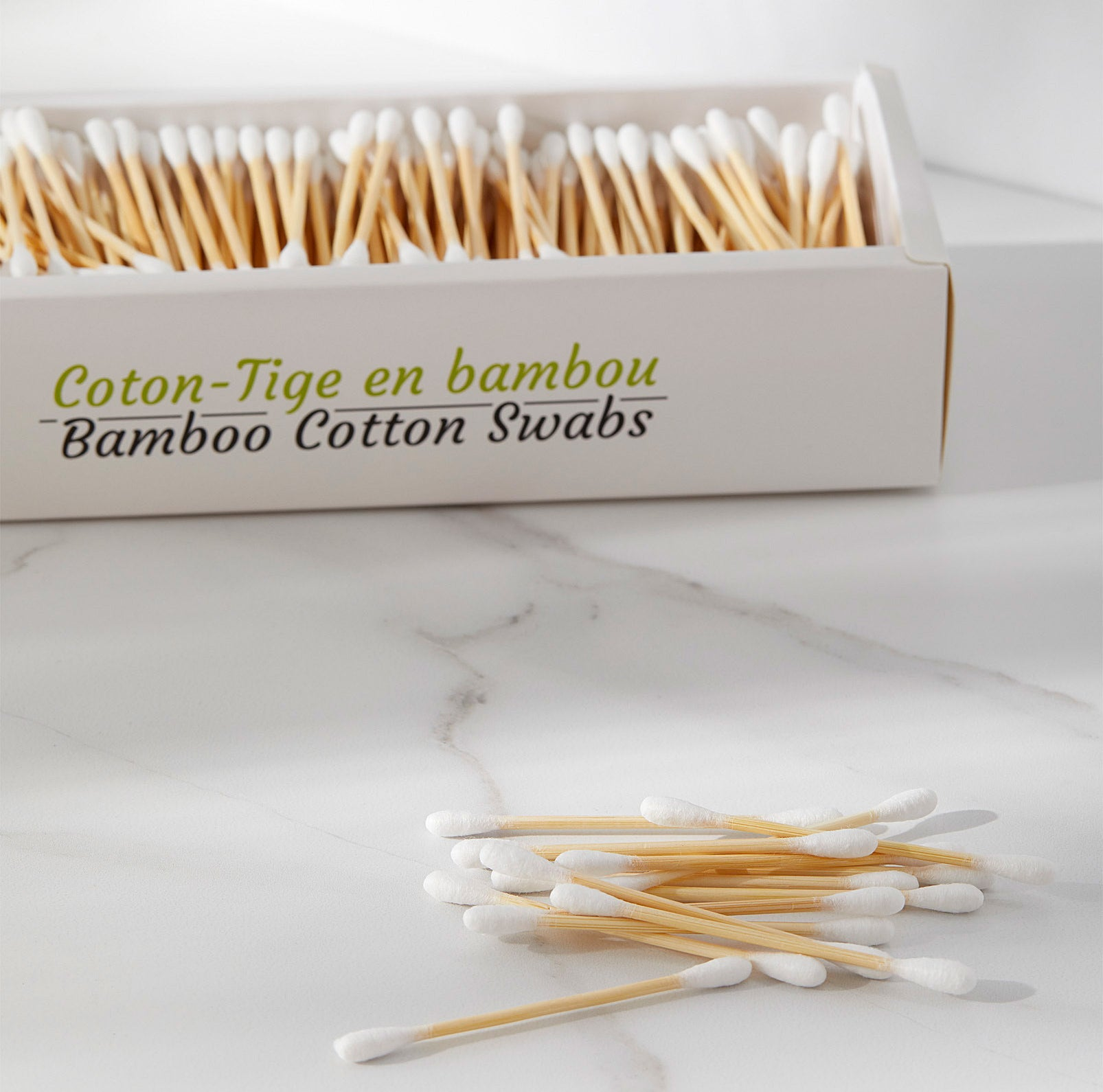 A pack of bamboo cotton swabs