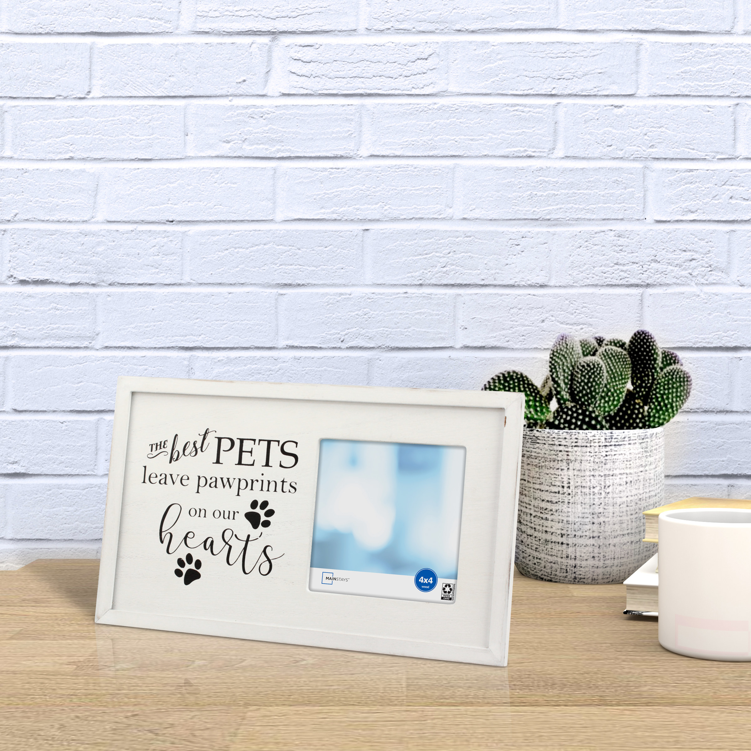 The photo frame on a table