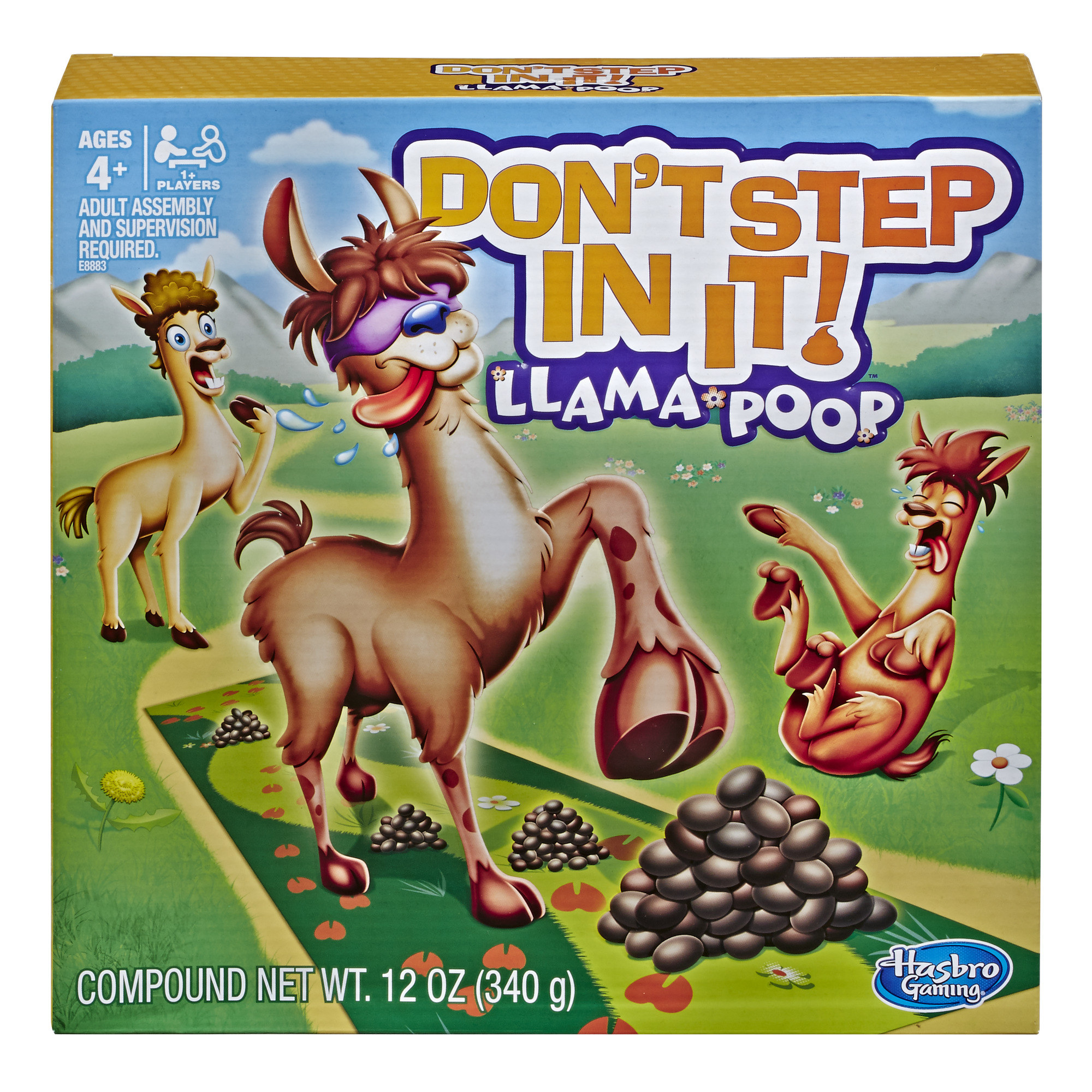 The cover of the game with illustrated llamas