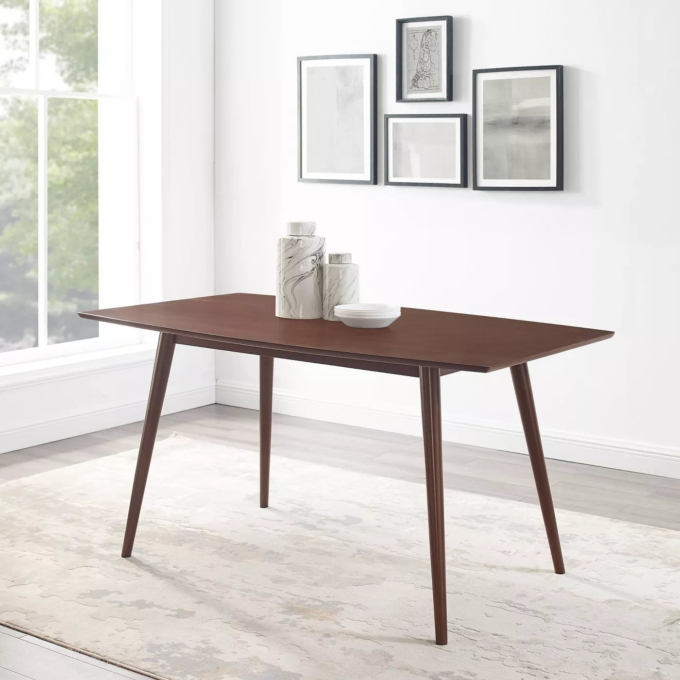 The table in walnut