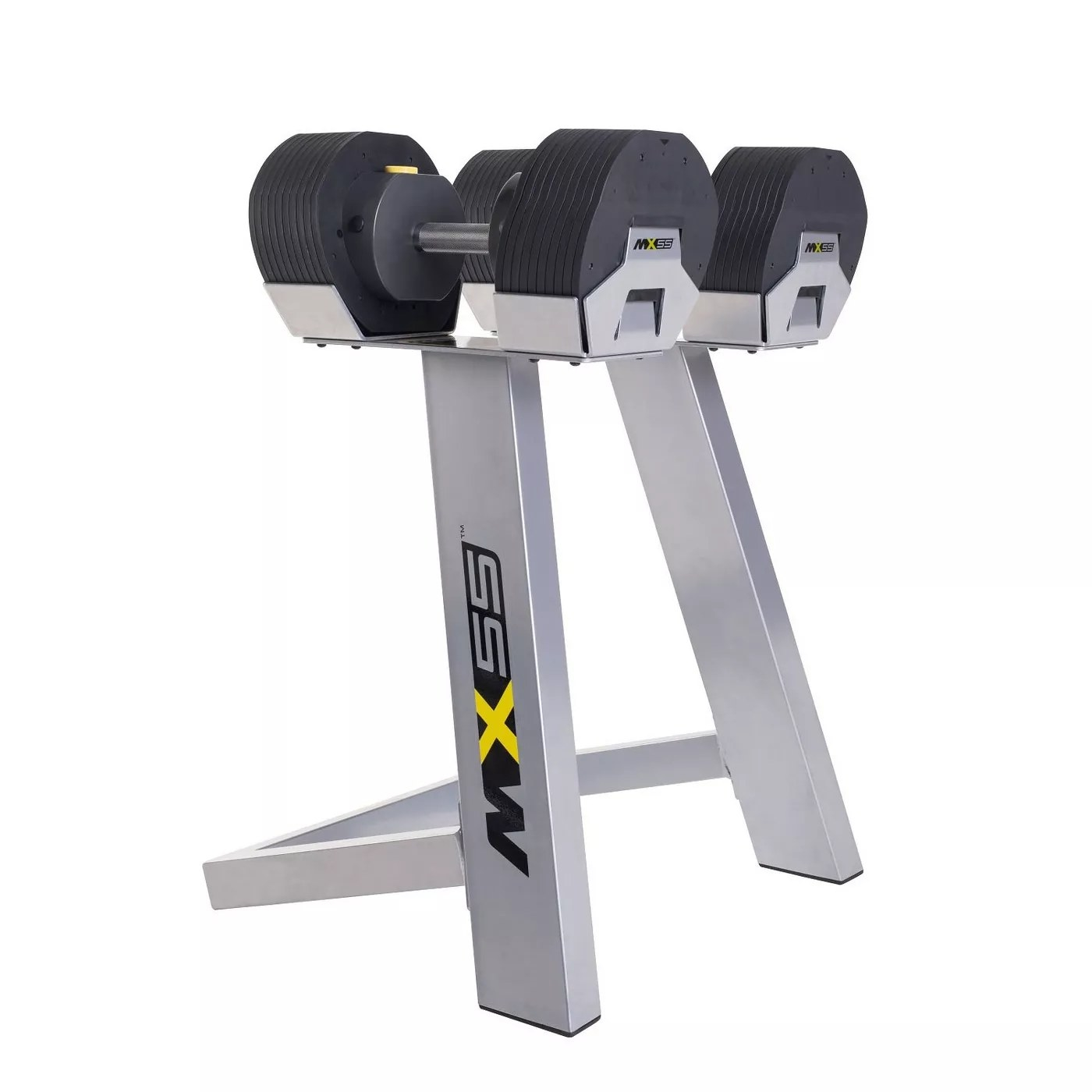 The MX-55 dumbbell set and stand