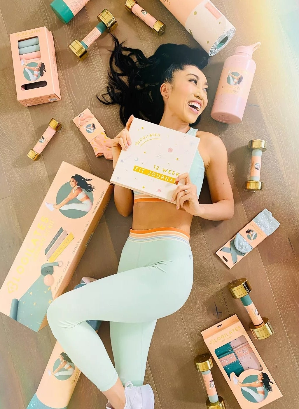A model with Blogilates gear
