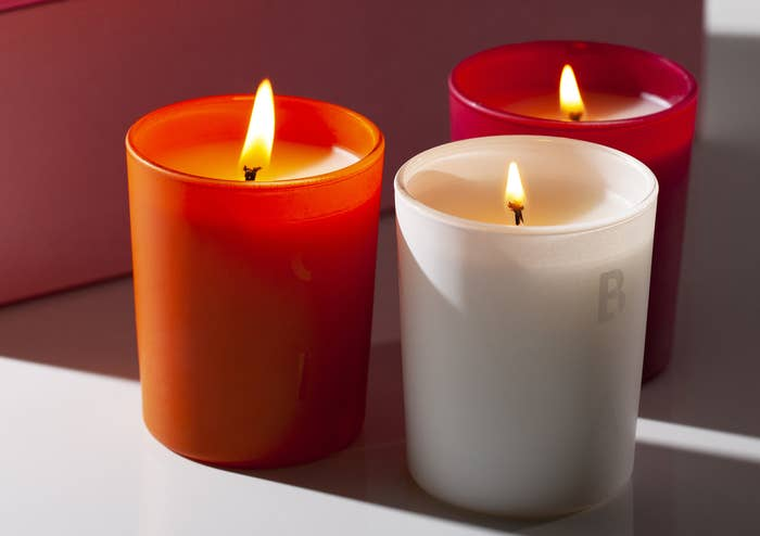 the three candles that come in the set