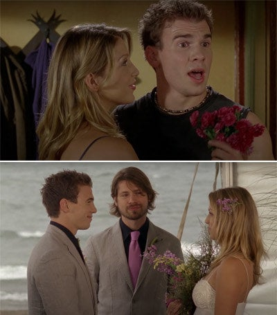 Spencer and Emma getting married at the beach