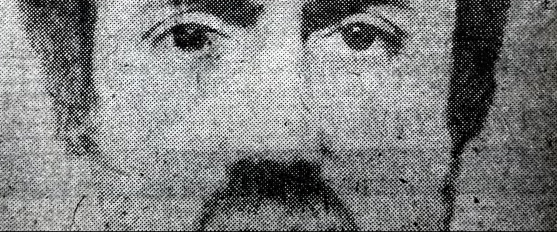 The sketch of the Ripper's face.