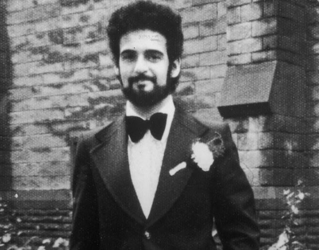 Peter Sutcliffe, serial killer, in a bow tie.