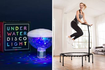 light and trampoline