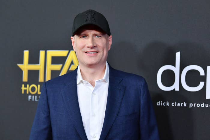 Kevin Feige on the red carpet at the Hollywood Film Awards