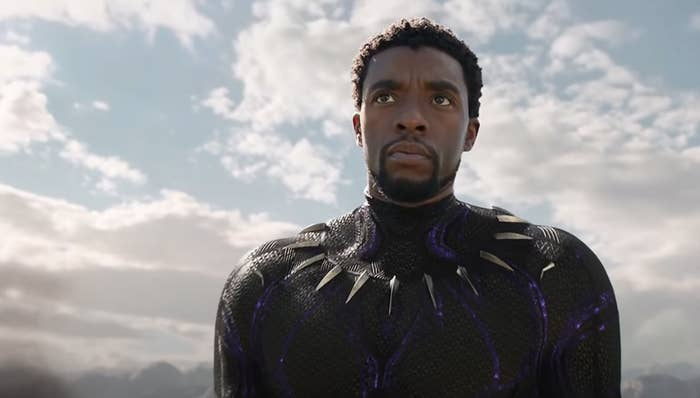 Boseman as T'Challa aka the Black Panther