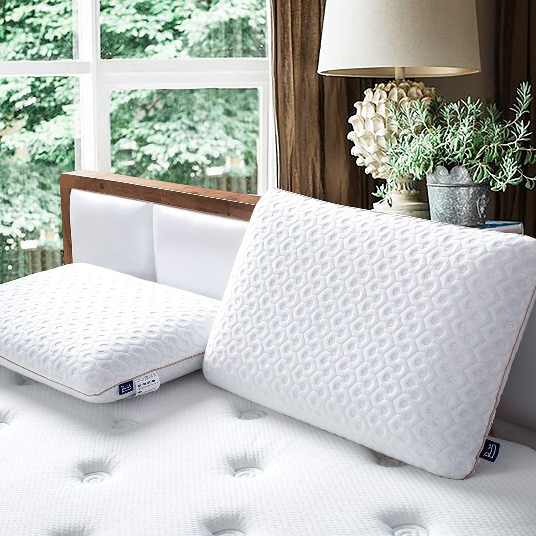 Two pillows on a mattress