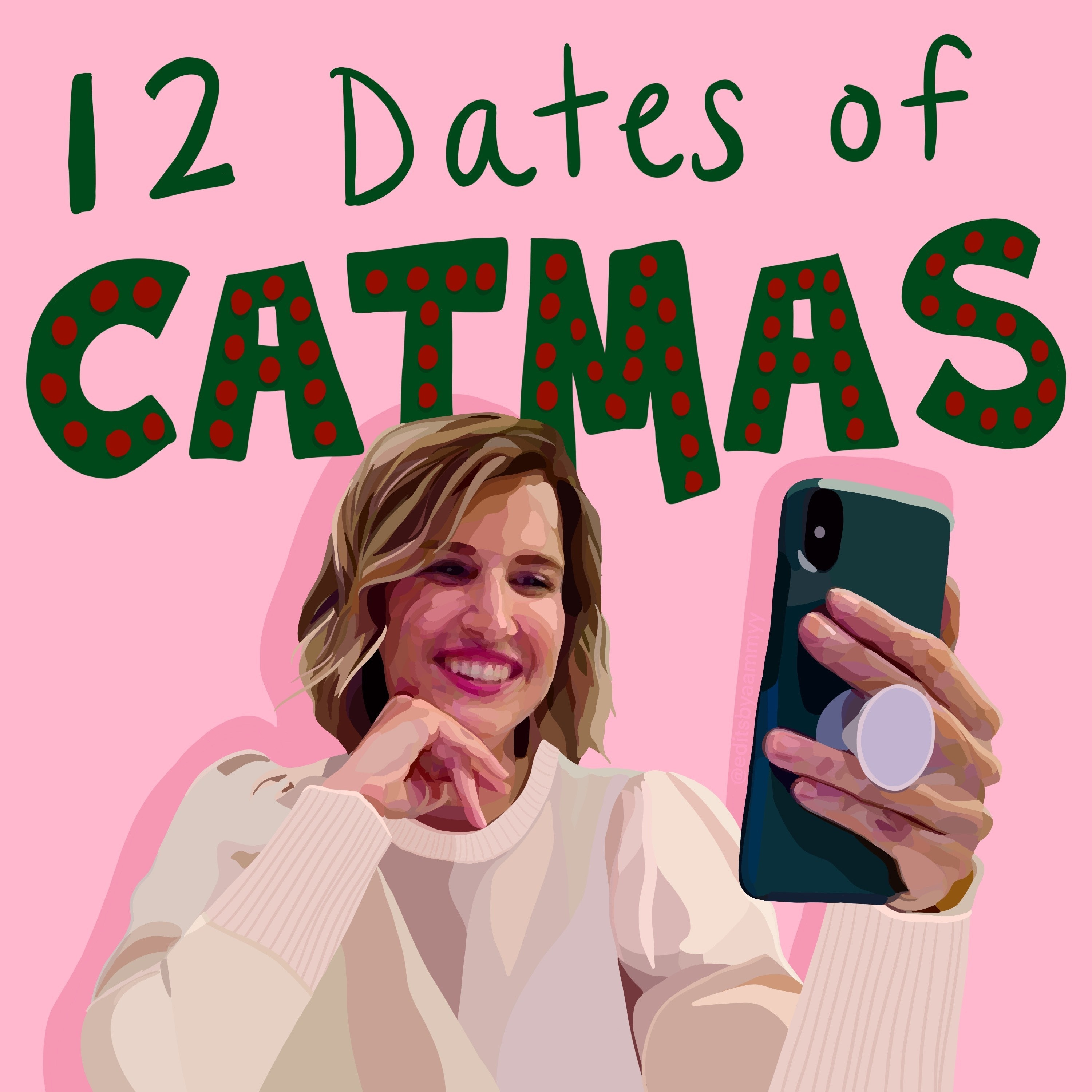 """12 days of Catmas"" logo Cat made for the experience"