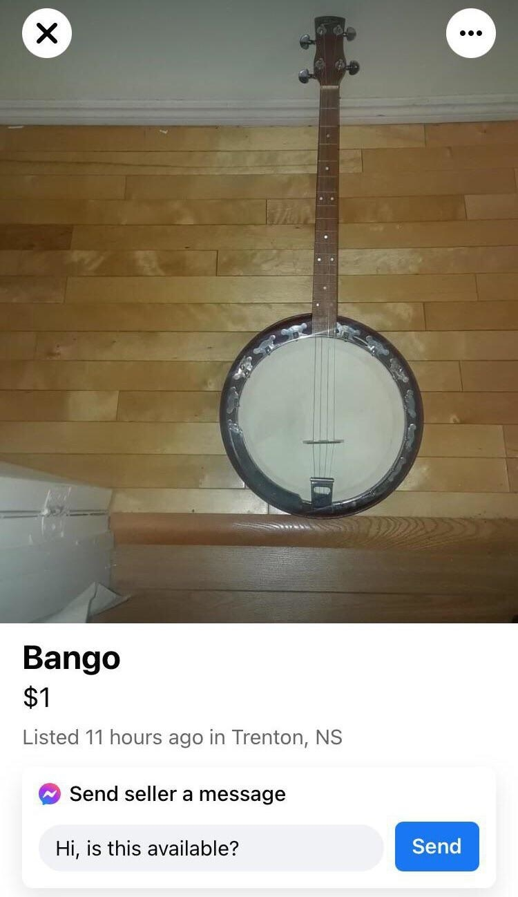 banjo for sale listed as bango