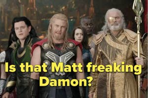 Matt Doman as Loki in a play within the movie in Thor