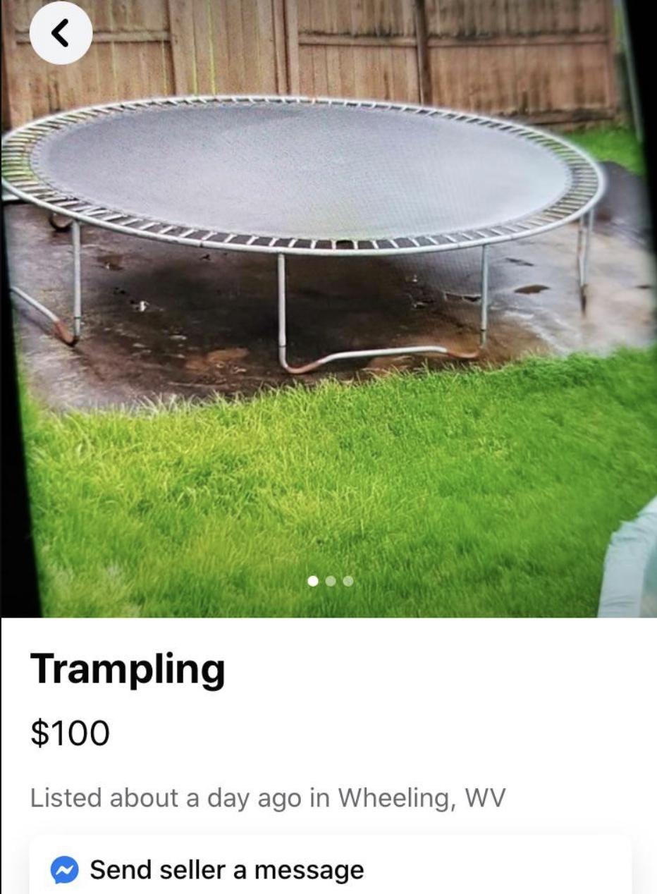 trampoline for sale reading trampling