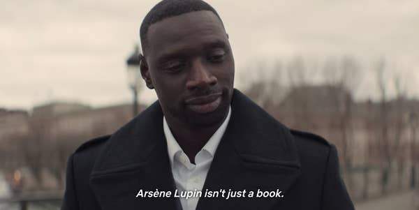 Assane saying Arsène Lupin isn't just a book