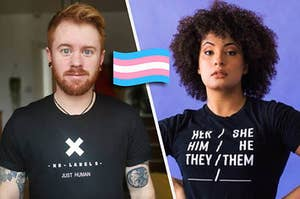 A Trans Man next to a trans Femme