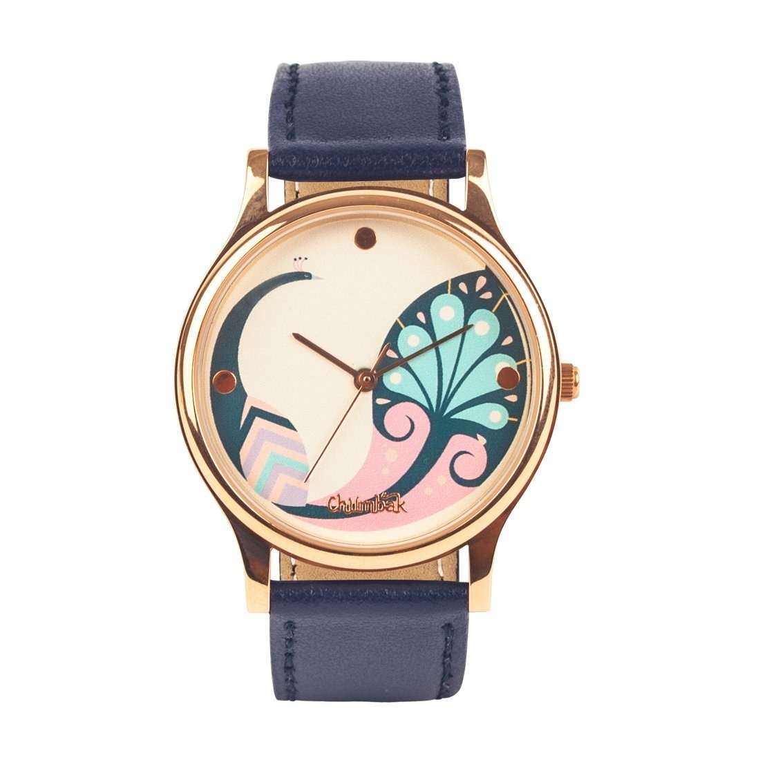 A blue and pink wrist watch