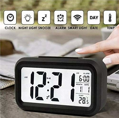 A digital alarm clock with the features it offers