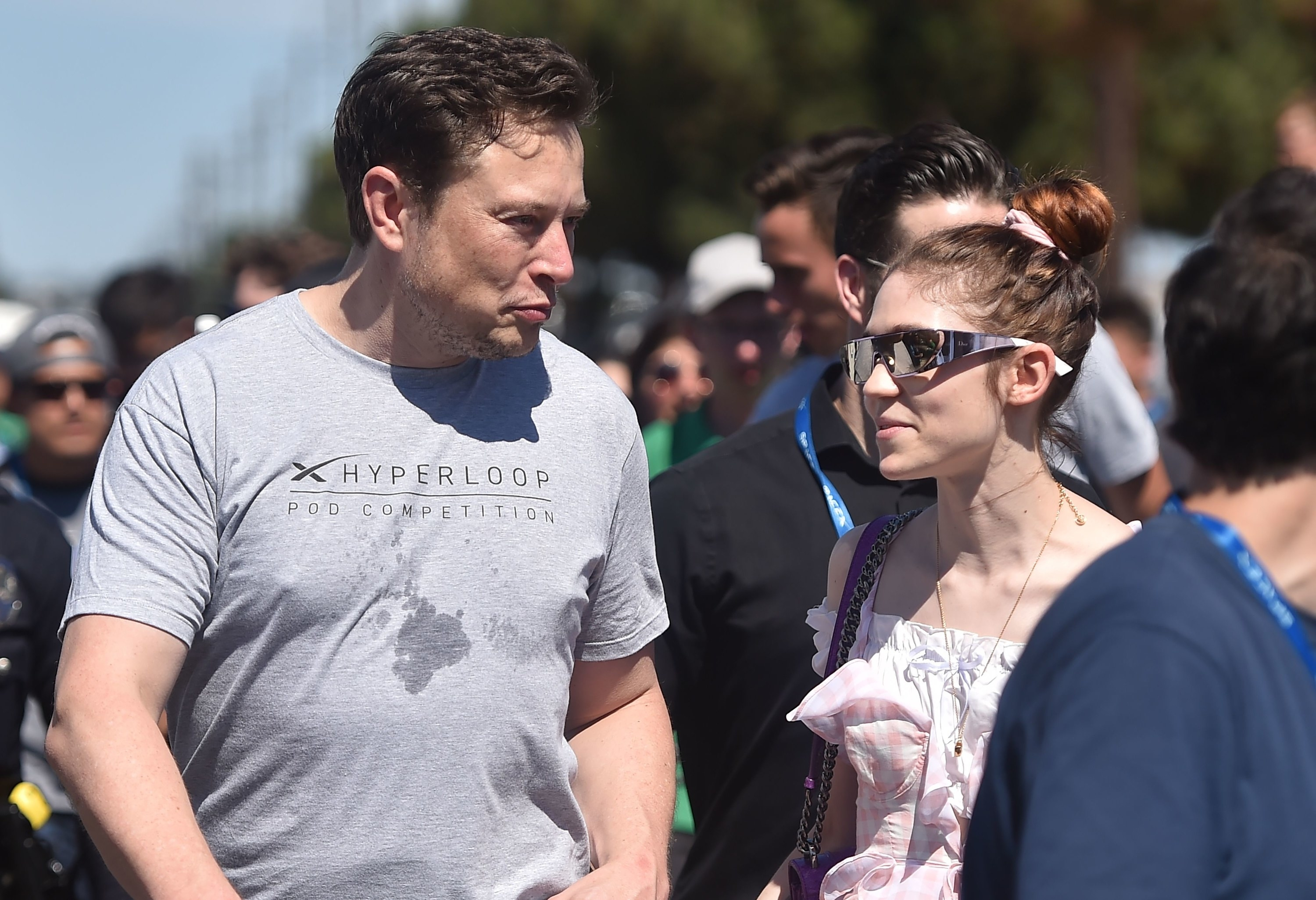 SpaceX founder Elon Musk and Canadian musician Grimes