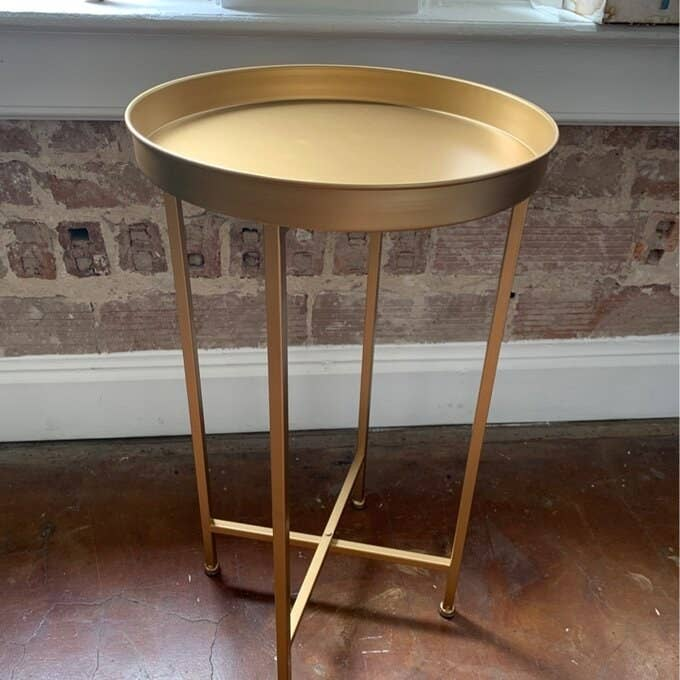 Review photo of the gold end table