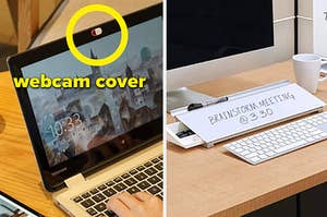 webcam cover and note jotting pad