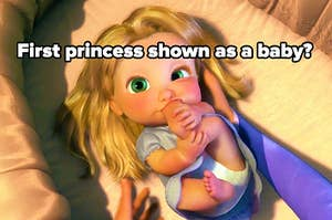 first princess shown as a baby? with baby rapunzel