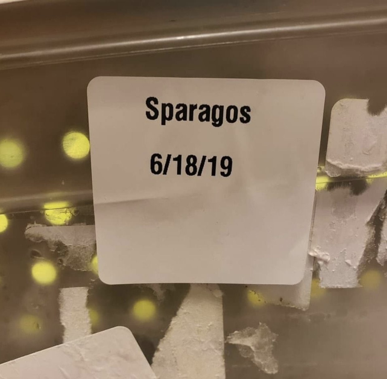 asparagus labeled sparagos