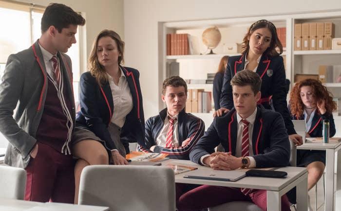 """Elite"" Season 1 characters in classroom"