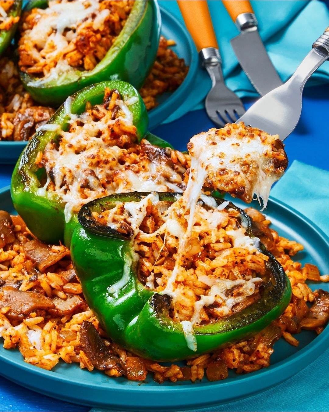 plate of stuffed peppers