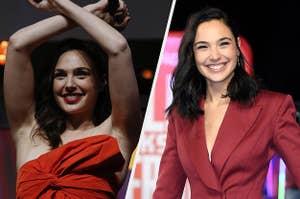 Gal Gadot promoting Wonder Woman and Ralph Breaks the Internet