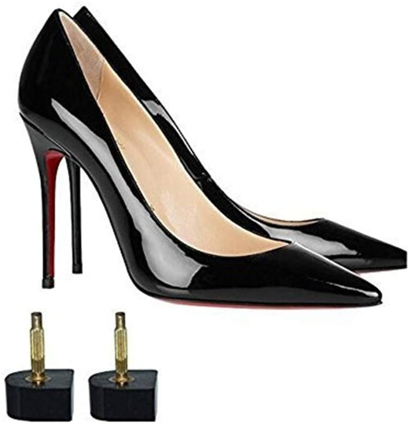 high heels with two heel tips