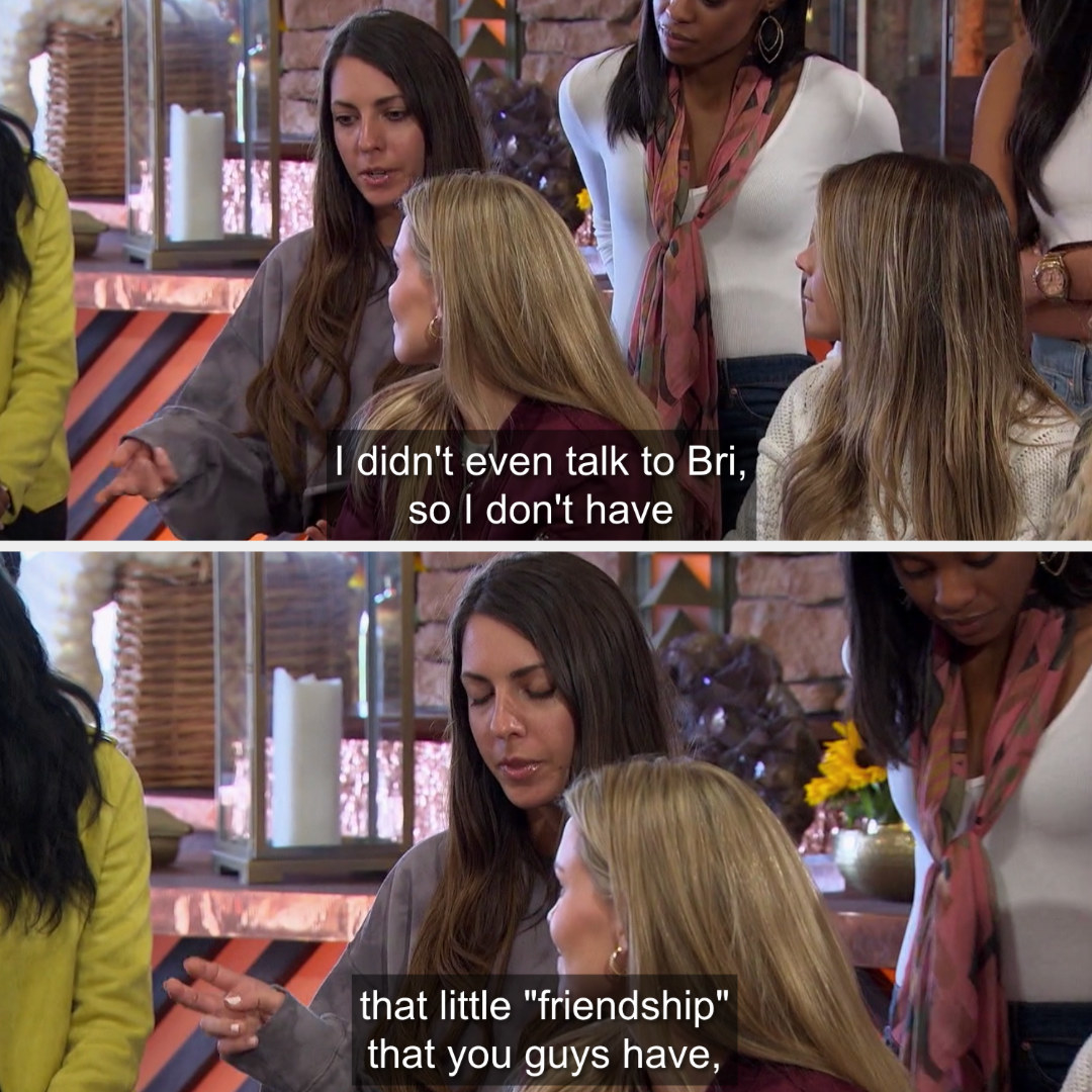 Victoria insisting that she's not here to make friends