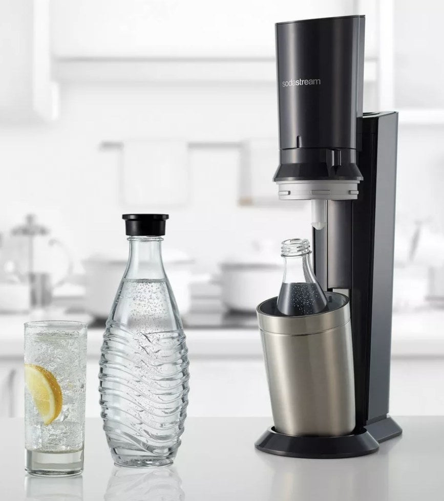 The SodaStream on a kitchen counter
