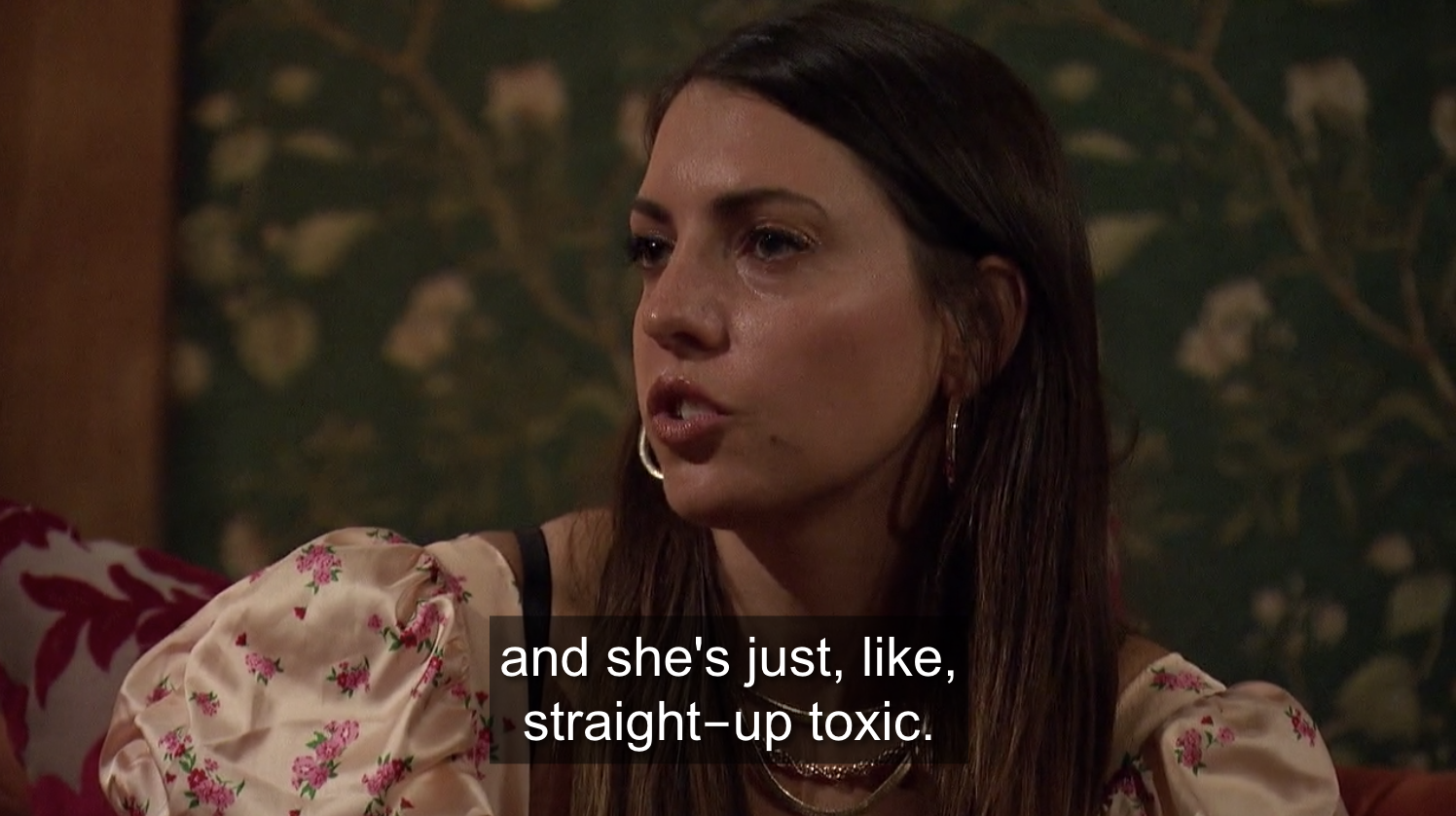 Victoria telling Matt that another girl in the house is toxic