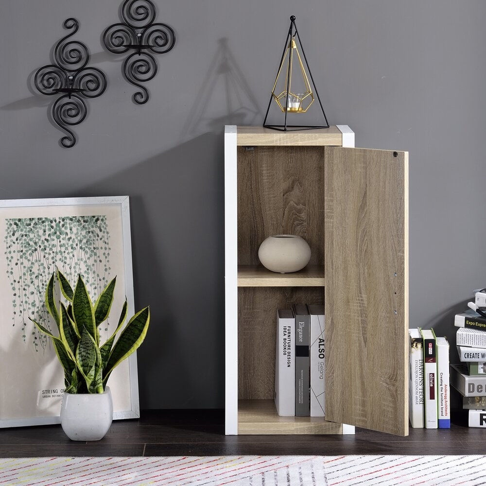 the Aiiden 2 - Shelf Storage Cabinet in a living space